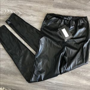 NWT high waisted faux leather leggings